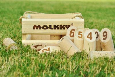 Mölkky houten kist